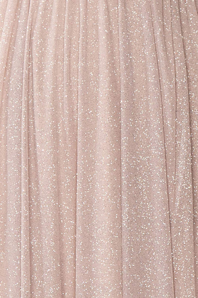 Cephee Taupe Glitter Dress | Robe | Boutique 1861 fabric detail
