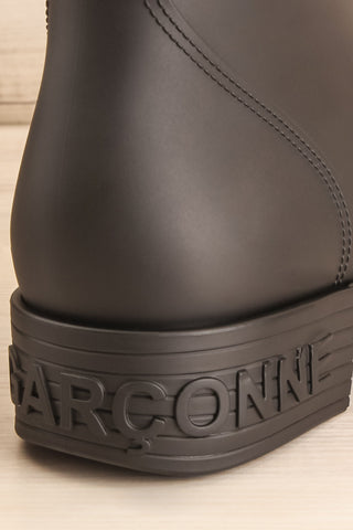Chalabre Black Lace-Up Ankle Boots back close-up | La Petite Garçonne Chpt. 2