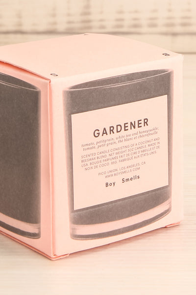 Chandelle Gardener Perfumed Candle small box close-up | La Petite Garçonne Chpt. 2