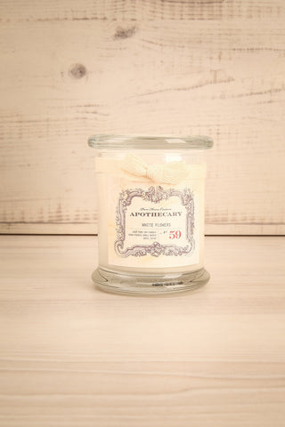 Chandelle White Flowers - Perfumed candle in a glass jar