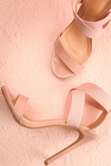 Chaptal Pink Sandal Stilettos with Elastic Straps | Boutique 1861