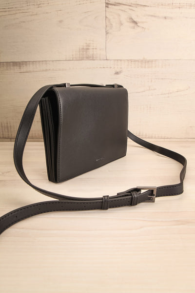 Charlot Black Faux-Leather Pixie Mood Handbag side view | La Petite Garçonne