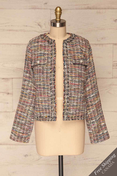 Chatel | Colorful Tweed Jacket