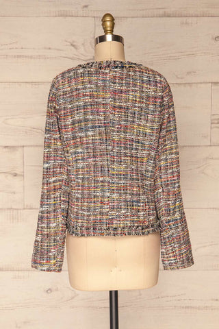 Chatel Colorful Tweed Jacket with Pearl Buttons | La Petite Garçonne back view