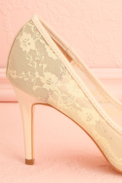 Chatelet Ivory Lace Pointed Toe High Heels | Boudoir 1861