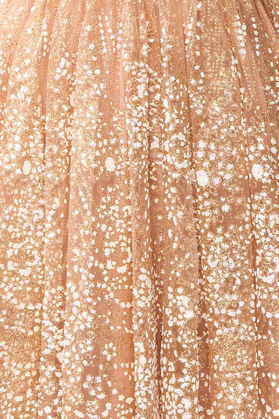Chayli Rosegold Glitter Party Dress | Robe | Boutique 1861 fabric detail