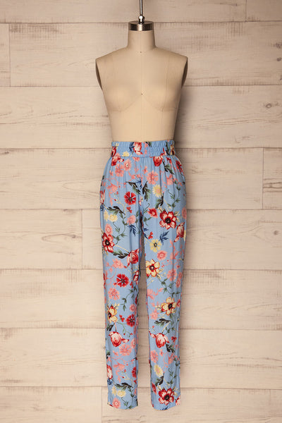 Chociwel Blue Floral Tapered Lightweight Pants | La Petite Garçonne