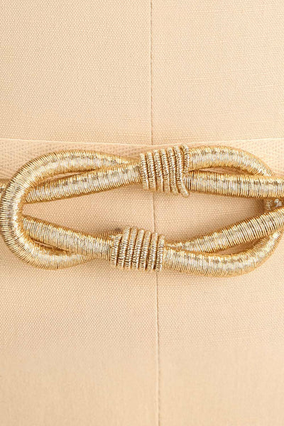 Civis Gold Rope Belt w/ Ornement | La petite garçonne close-up