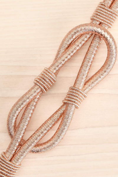Civis Rosegold Rope Belt w/ Ornement | La petite garçonne flat close-up