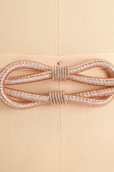Civis Rosegold Rope Belt w/ Ornement | La petite garçonne close-up