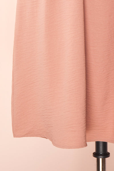 Claire Pink Short Sleeve Tie Waist Dress | Boutique 1861 bottom