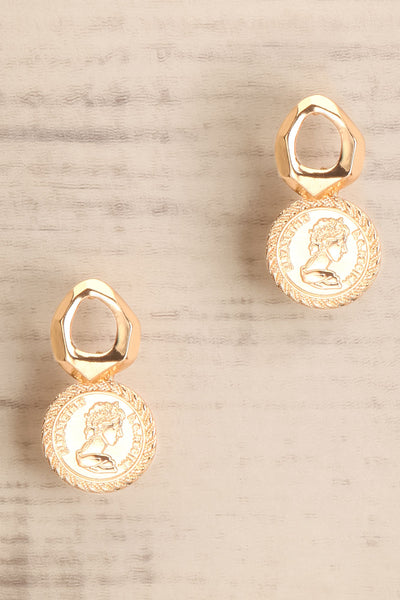 Clementia | Gold Pendant Earrings