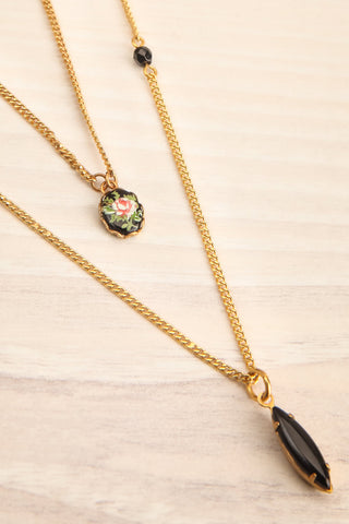Coleen Moore Golden & Black Pendant Necklace | Boutique 1861 2
