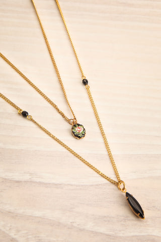 Coleen Moore Golden & Black Pendant Necklace | Boutique 1861 3