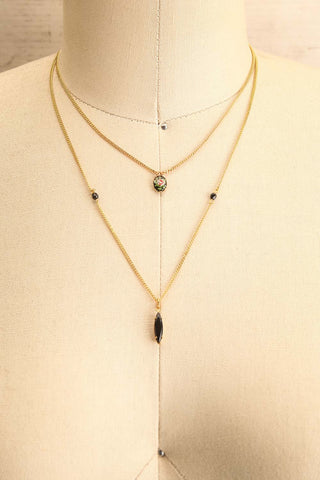 Coleen Moore Golden & Black Pendant Necklace | Boutique 1861 1