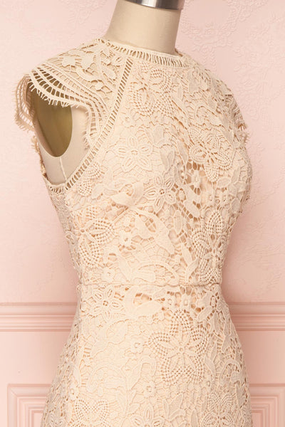 Colihaut Blush Lace Fitted Cocktail Dress | Boutique 1861