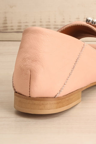 Connor Blush Leather Wedge Peep-Toe Shoes back close-up | La Petite Garçonne Chpt. 2 9
