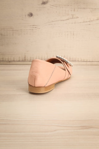 Connor Blush Leather Wedge Peep-Toe Shoes back view | La Petite Garçonne Chpt. 2 8
