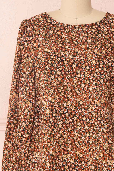 Copera Floral Long Sleeved Blouse | Boutique 1861 front close-up