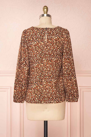 Copera Floral Long Sleeved Blouse | Boutique 1861 back view