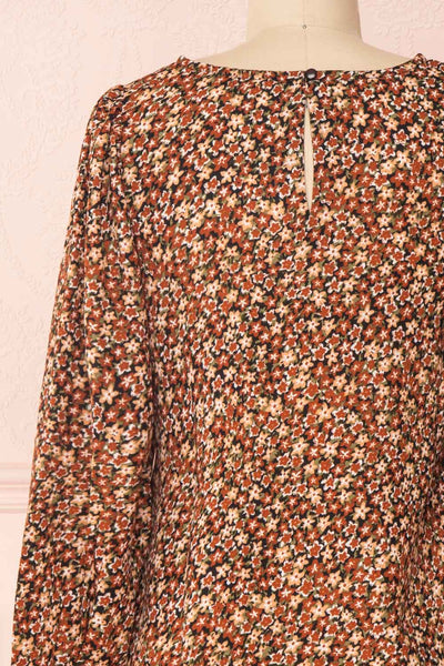 Copera Floral Long Sleeved Blouse | Boutique 1861 back close-up