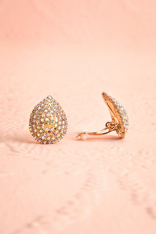 Cormier Or Golden Crystal Clip-On Earrings | Boutique 1861