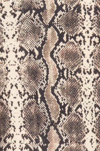 Coswig Noir Black Snake Pattern Long Sleeved Top | La Petite Garçonne fabric detail