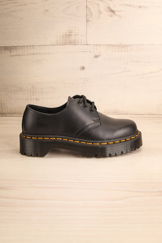 Crawley Leather Black Dr. Martens Shoes side view | La Petite Garçonne