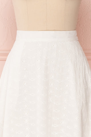 Sarika White Floral Openwork A-Line Skirt | Boutique 1861 3