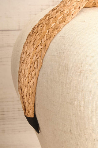 Dangeset Beige Braided Straw Headband with Knot | La Petite Garçonne 4