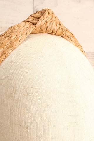 Dangeset Beige Braided Straw Headband with Knot | La Petite Garçonne 3