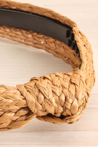 Dangeset Beige Braided Straw Headband with Knot | La Petite Garçonne 2