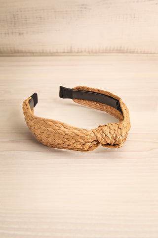 Dangeset Beige Braided Straw Headband with Knot | La Petite Garçonne 5