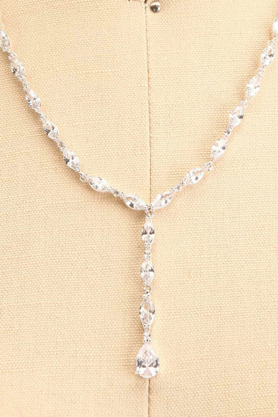 Danika Crystal Pendant Necklace | Boutique 1861 close-up