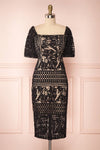 Daphnee Noir Black Laced Cocktail Dress | Boutique 1861