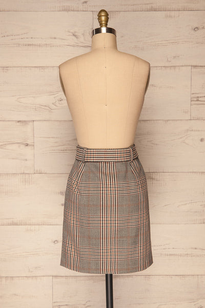 Darlington Plaid Mini Skirt | Mini Jupe | La Petite Garçonne back view