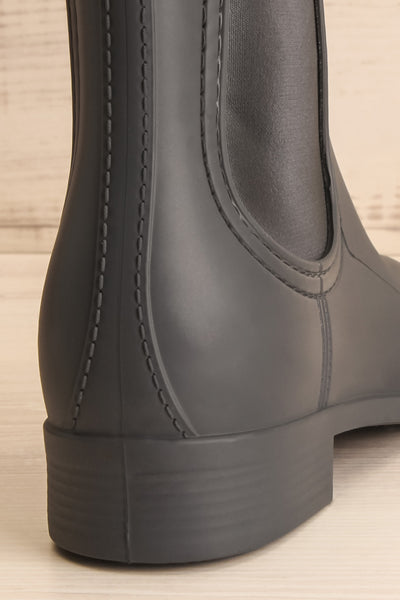 Dartford Grey Chelsea Rain Boots back close-up | La Petite Garçonne Chpt. 2