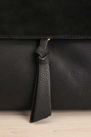 Davvaluft Black Fold-Over Crossbody Bag | La Petite Garçonne 2