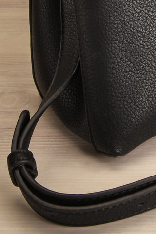 Davvaluft Black Fold-Over Crossbody Bag | La Petite Garçonne 6 8