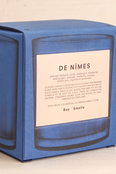Chandelle De Nîmes Blue Perfumed Candle | La Petite Garçonne Chpt. 2 box close-up