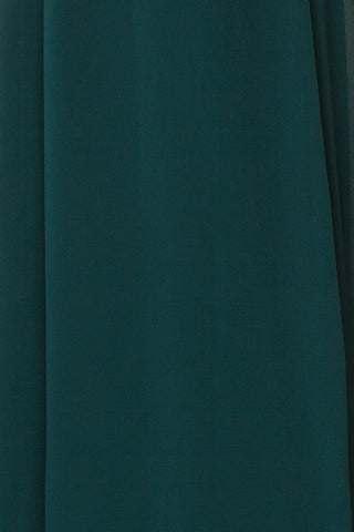Debbie Émeraude Emerald Minimal Maxi Wrap Dress | Boudoir 1861 fabric close-up