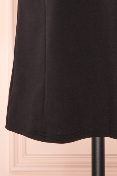 Delinela Short Black Dress w/ Bow | Boutique 1861 bottom