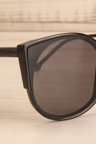 Demring Grey & Black Butterfly Sunglasses side close-up | La Petite Garçonne