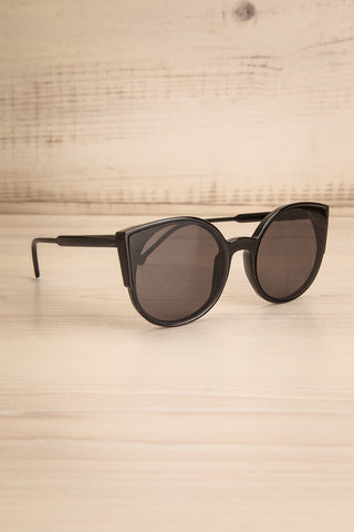 Demring Grey & Black Butterfly Sunglasses side view | La Petite Garçonne