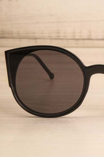 Demring Grey & Black Butterfly Sunglasses front close-up | La Petite Garçonne