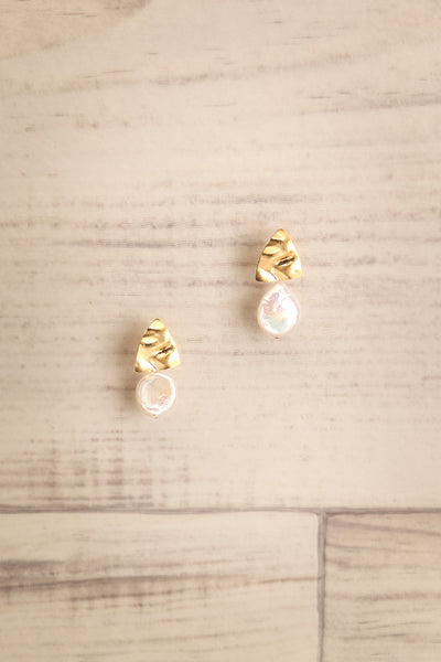 Discosoma Golden & Opal Pendant Earrings | La Petite Garçonne