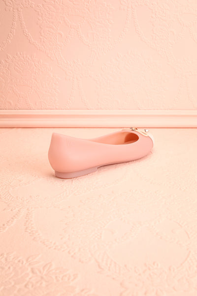 Dolores Pink Ballet Flats with Bow | Boutique 1861 back view