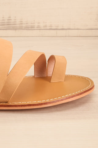 Domus Sable Beige Faux-Leather Slip-On Sandals | La Petite Garçonne 7