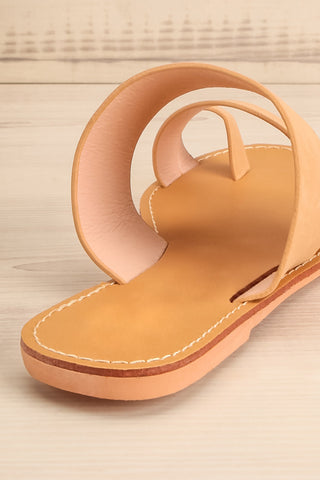 Domus Sable Beige Faux-Leather Slip-On Sandals | La Petite Garçonne 9