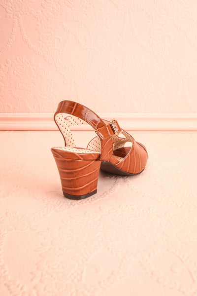 Dulcina Brown High Heel Sandals | Sandales | Boutique 1861 back view